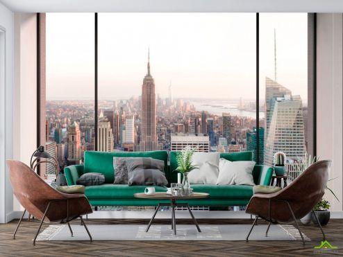 Вид из окна Фотообои Вид с окна в мегаполис