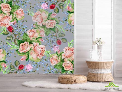 обои Цветы Фотообои Принт винтажные цветы