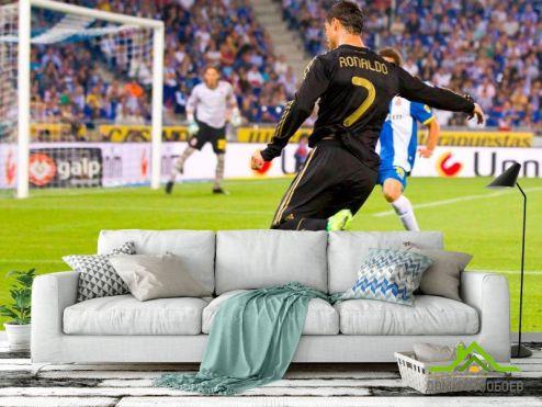 обои Спорт Фотообои Роналдо атакует ворота