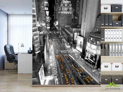Фотообои Город по выгодной цене Фотообои ЧБ вид на город