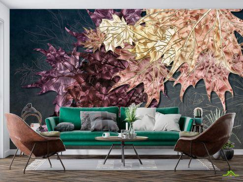 Цветы Фотообои Кленовые листья