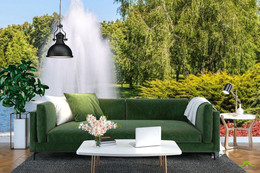 Фотообои фонтан в парке