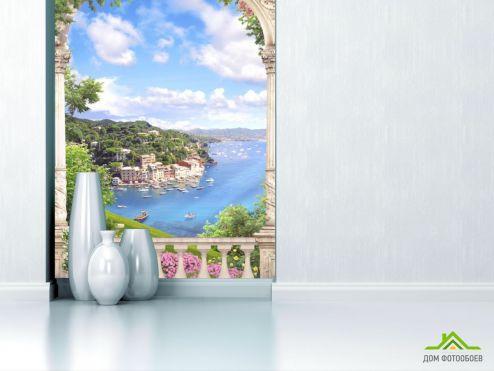 обои Фрески Фотообои Вид с балкона на море