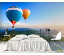 Фотообои воздушные шары над горами