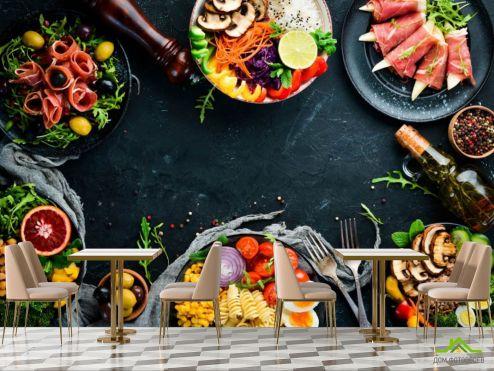 для кафе Фотообои Ресторанная еда