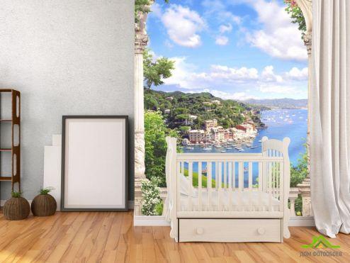 Фрески Фотообои Вид с балкона на море