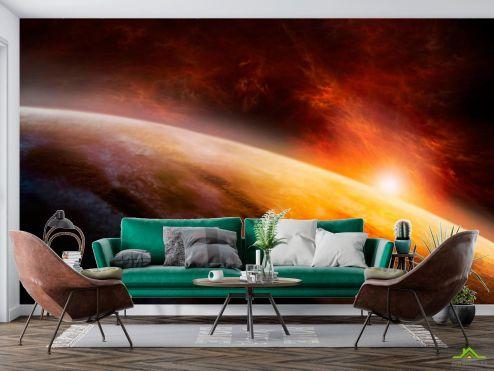 Фотообои Космос по выгодной цене Фотообои Вспышки солнца