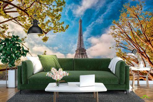 Старый город Фотообои Париж осенью