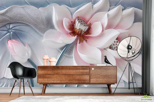 3Д  Фотообои Красивый керамический цветок