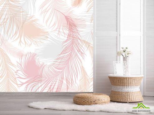 обои перья Фотообои Розовые векторные перья