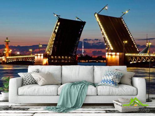 Фотообои Архитектура по выгодной цене Фотообои Мост в Санкт-Петербурге