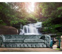 Фотообои водопад каменные ступеньки