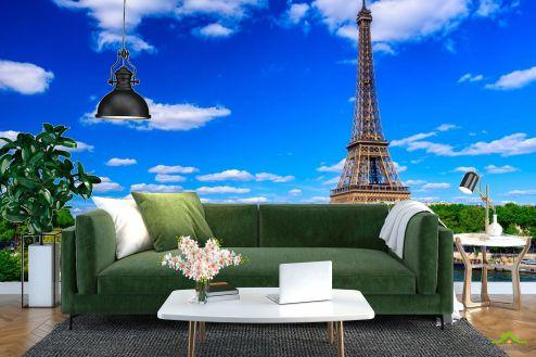 Париж Фотообои ярко-синее небо Парижа