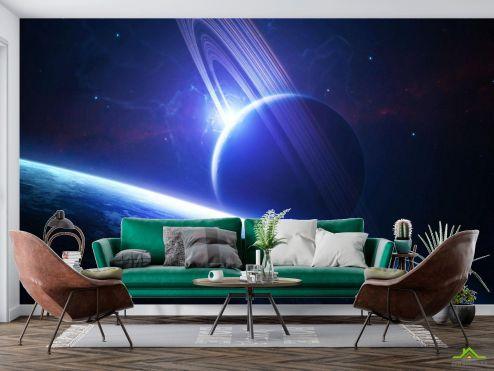Космос Фотообои Планета сатурн