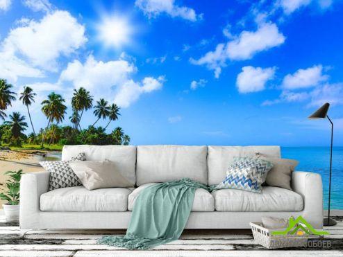 обои Природа Фотообои Море и пальмы
