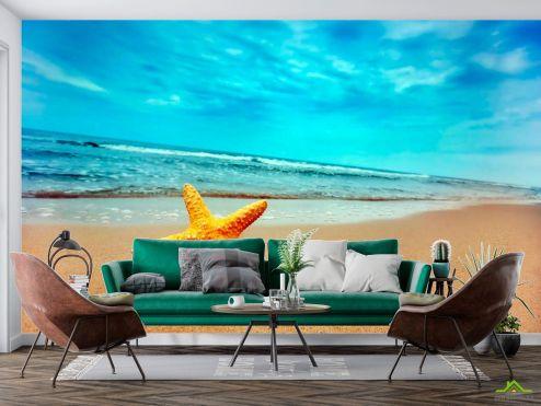 Пляж Фотообои Пляж, морская звезда