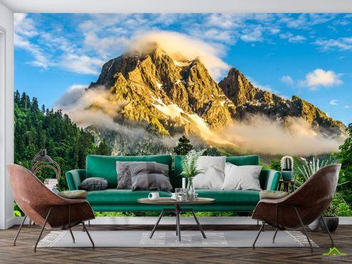 Природа Фотообои горы в лесу