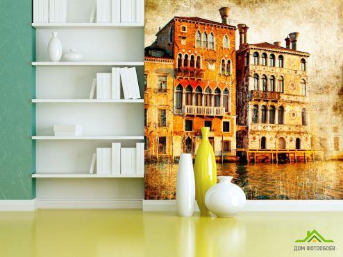 Винтажный Город Фотообои Дом в Венеции