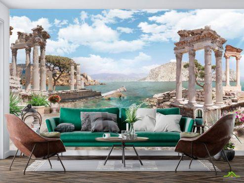 Пейзаж Фотообои Руины, море