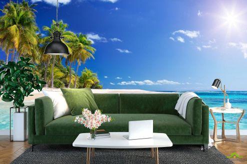 Фотообои Море по выгодной цене Фотообои Голубое море и пальмы