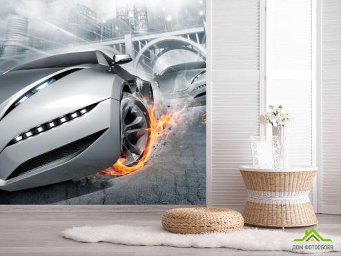 Каталог фотообоев Фотообои Авто в огнях