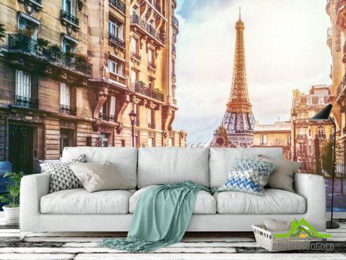 обои Париж Фотообои старая улица Парижа