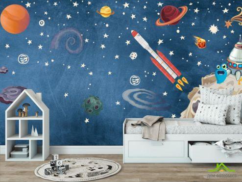 обои в детскую  Фотообои Космическая история часть 2