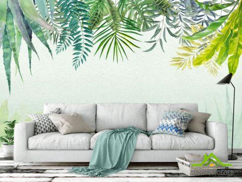 обои тропические листья Фотообои Тропические листья