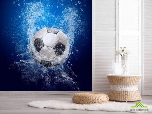 обои Спорт Фотообои Мяч в воде