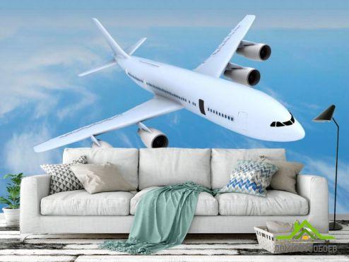 Самолеты Фотообои Самолет в облаках