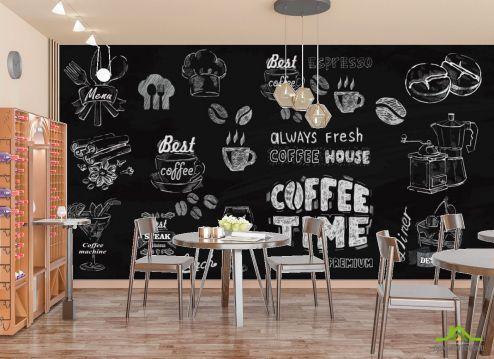 для кафе Фотообои Принты с кофе