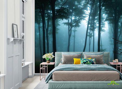 Фотообои в спальню по выгодной цене Фотообои Тёмный лес