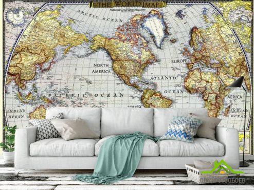 обои Карта Фотообои Винтажная карта