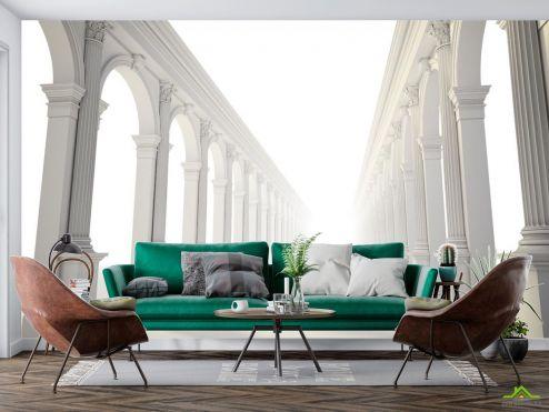 в стиле барокко Фотообои Коридор белые арки купить