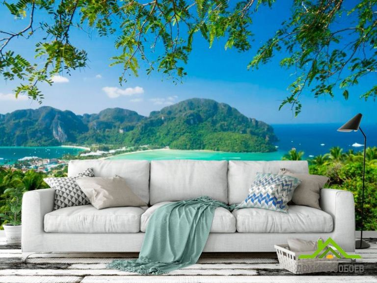 Фотообои Коса и пальмы
