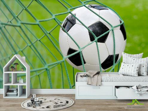 в детскую Фотообои Мяч в воротах