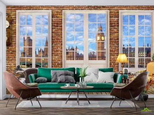 Фотообои Вид из окна по выгодной цене Фотообои Вид из окна на Биг Бен