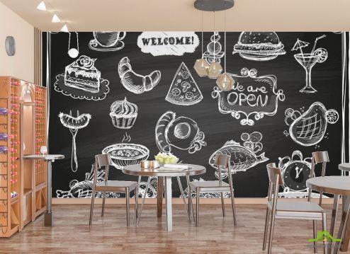 для кафе Фотообои Мелованная стена