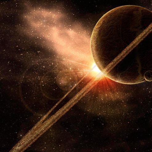 обои Космос Фотообои Сатурн