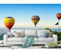Фотообои шесть воздушных шаров в горах