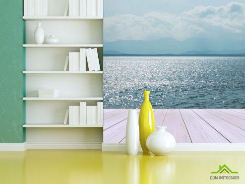 обои Вид из окна Фотообои Вид из террассы на море