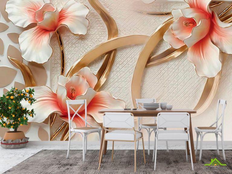 Фотообои в кухню Керамические цветы