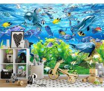 Фотообои 3д подводный мир