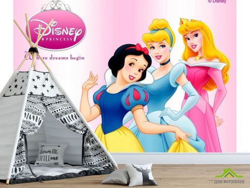 Принцессы Фотообои 3 принцессы