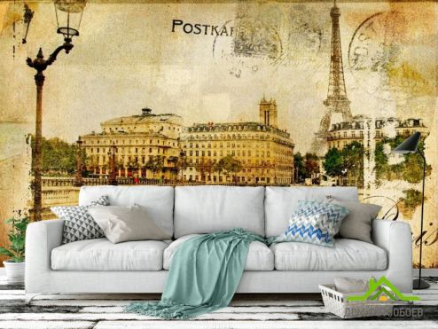 обои Винтаж Фотообои Мост, Париж