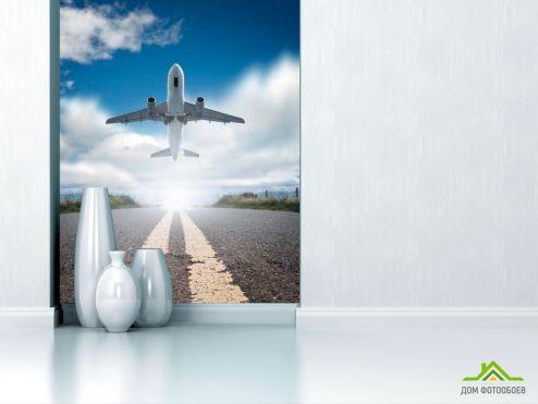Самолеты Фотообои Взлет самолета купить