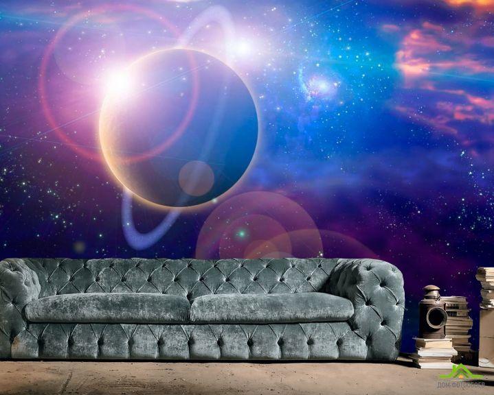 Фотообои Планета и млечный путь