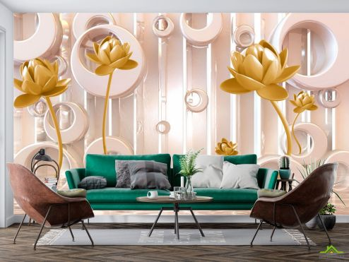 3Д  Фотообои Стереоскопические цветы