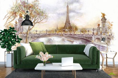 Иллюстрации Фотообои Париж