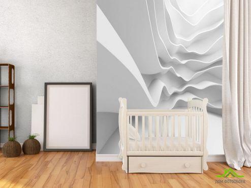 3Д  Фотообои Белые волны